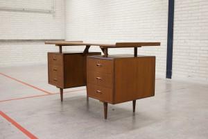 Vintage design teak writing desk
