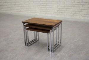 VINTAGE ROSEWOOD NESTING TABLES