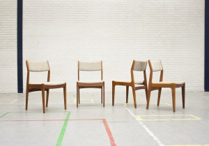 SET OF FOUR DANISH DINING CHAIRS TEAK