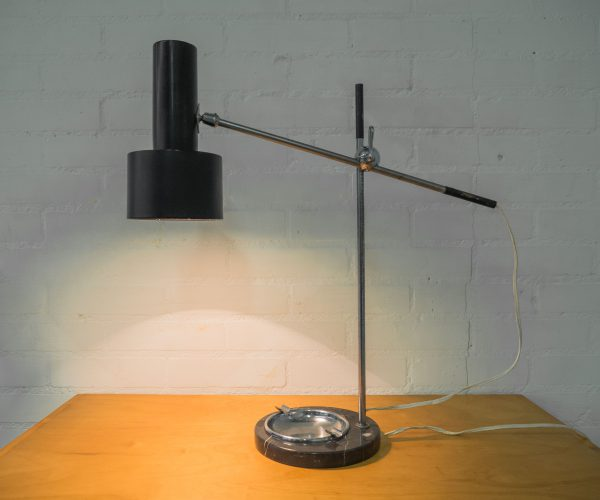 TABLE LAMP ASHTRAY MARBLE FILLEKES HAGOORT