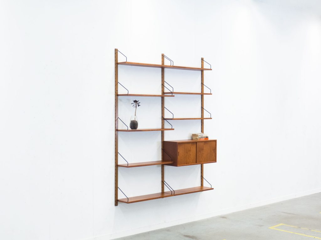 royal system teak wall unit poul cadovius