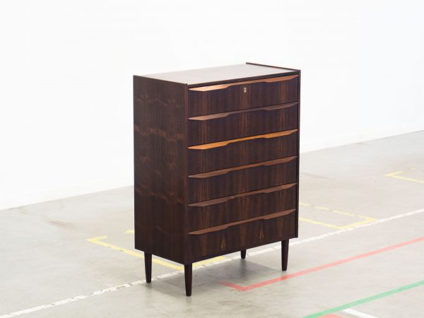 VINTAGE ROSEWOOD TALL CHEST OF DRAWERS