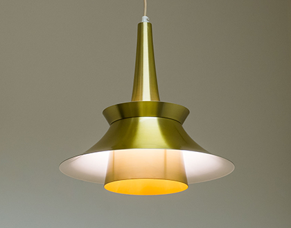 Vintage brass coloured pendant light