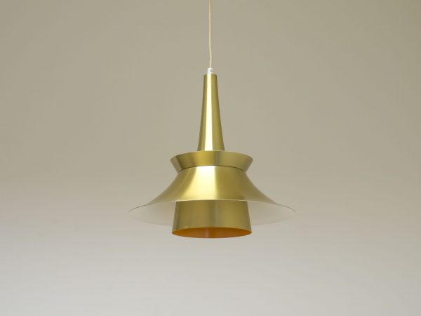 VINTAGE DANISH BRASS COLOURED PENDANT LIGHT
