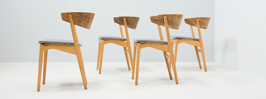 Sibast Møbler set of four 'no. 7' dining chairs – Helge Sibast
