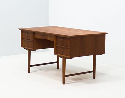 Vintage Danish free standing teak desk