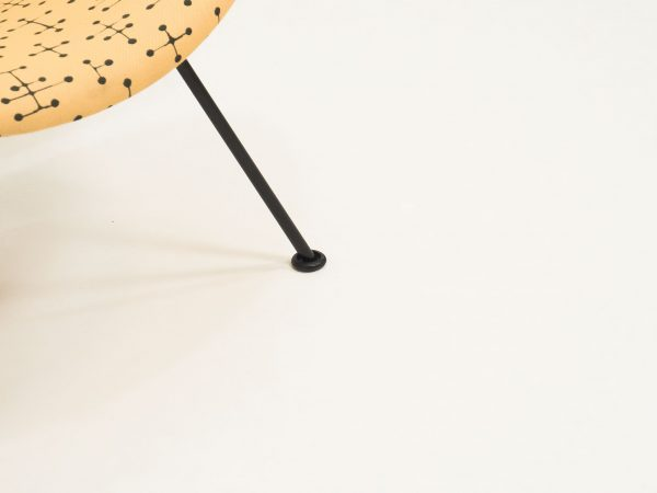 ARTIFORT 'SMALL DOT PATTERN' ORANGE SLICE LOUNGE CHAIR - PIERRE PAULIN & CHARLES AND RAY EAMES SAS (5)
