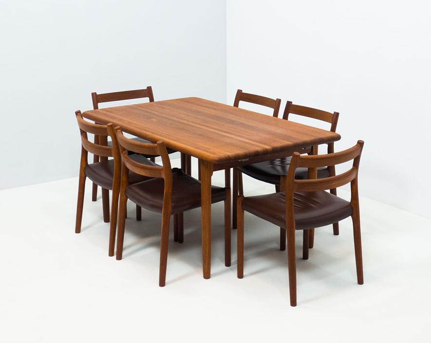 J.L. Møller Møbelfabrik 'Model 84' teak dining set – Niels Otto Møller