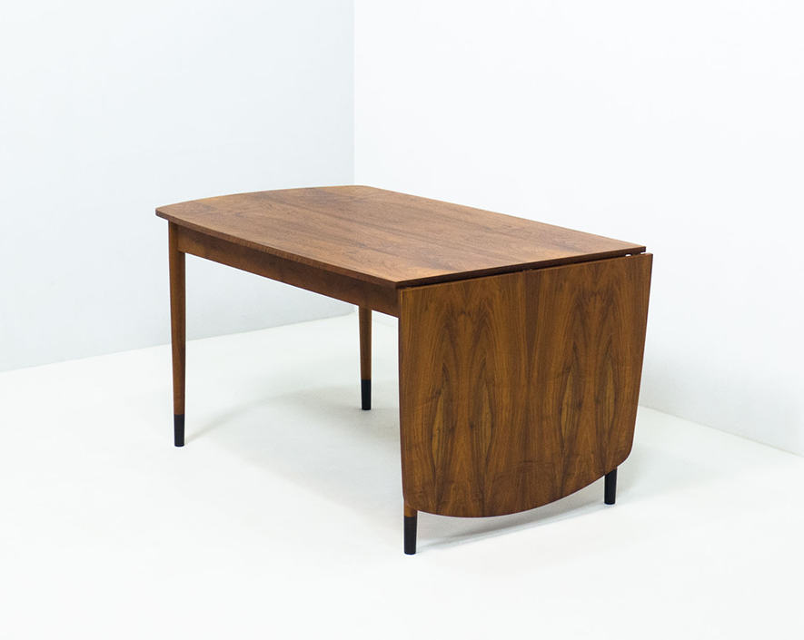 Vintage walnut drop leaf dining table