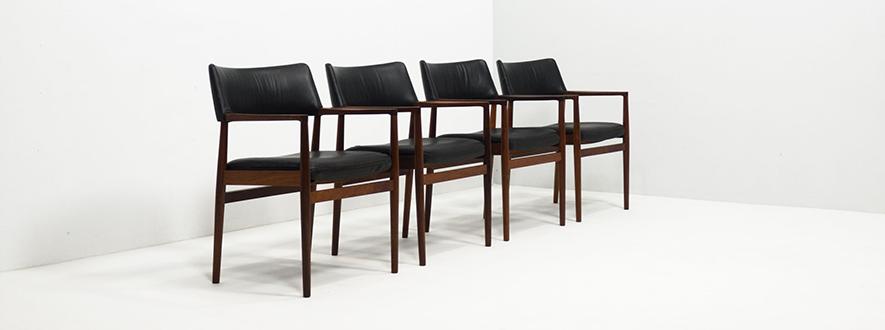 Sorø Stolefabrik rosewood set of arm chairs – Erik Wørts