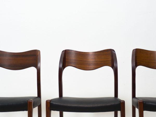J.L. MØLLER MØBELFABRIK 'MODEL 71' SET OF DINING CHAIRS - ARNE HOVMAND-OLSEN