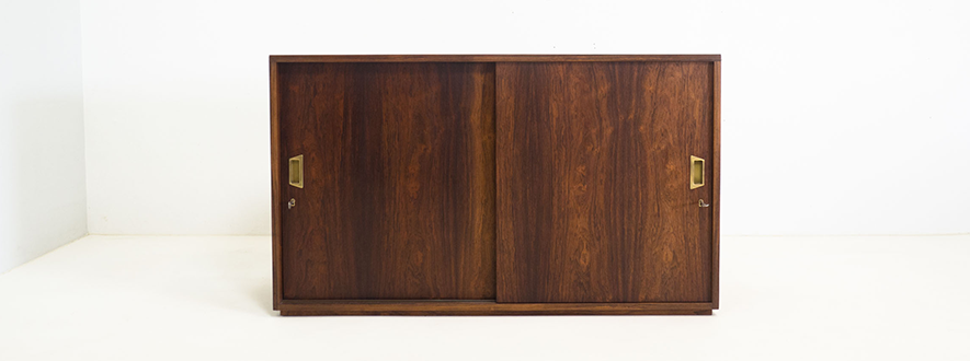 Vintage rosewood double sided cabinet